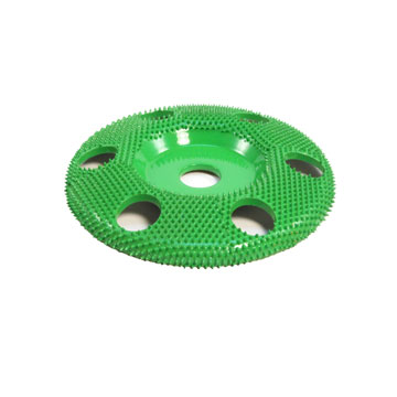 "4"" Disc Wheel W/ Holes Flat Face (Coarse Grit) 5/8"" Bore"