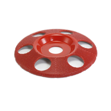 "5"" Disc Wheel Flat Face W/ Holes (Medium Grit) 7/8"" Bore"