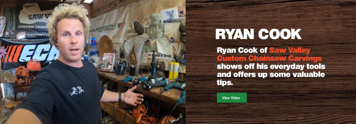 Ryan Cook - Tools I use everyday for Chainsaw Carving