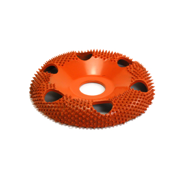 "4"" Donut Wheel W/ Holes Round Face (Ex-Coarse Grit) 7/8"" Bore"