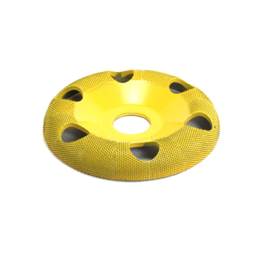 "4"" Donut Wheel W/ Holes Round Face (Fine Grit) 7/8"" Bore"