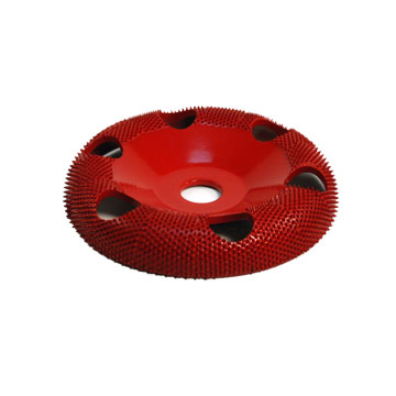 "4"" Donut Wheel W/ Holes Round Face (Medium Grit) 5/8"" Bore"