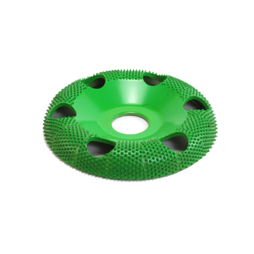 "4"" Donut Wheel W/ Holes Round Face (Coarse Grit) 7/8"" Bore"
