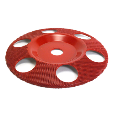 "7"" Disc Wheel Flat Face W/ Holes (Medium Grit) 7/8"" Bore"