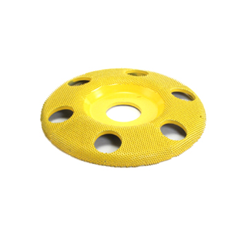 "4"" Disc Wheel W/ Holes Flat Face (Fine Grit) 7/8"" Bore"
