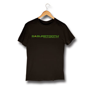 Saburrtooth Logo T-shirt Black