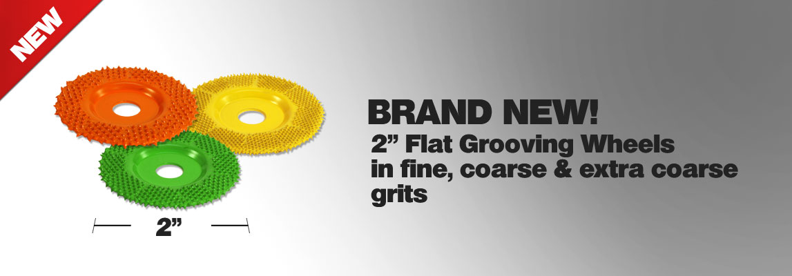 Check out our new 2 inch flat grooving wheels
